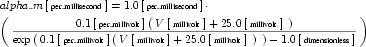 Equation: hh_alpha_m_units