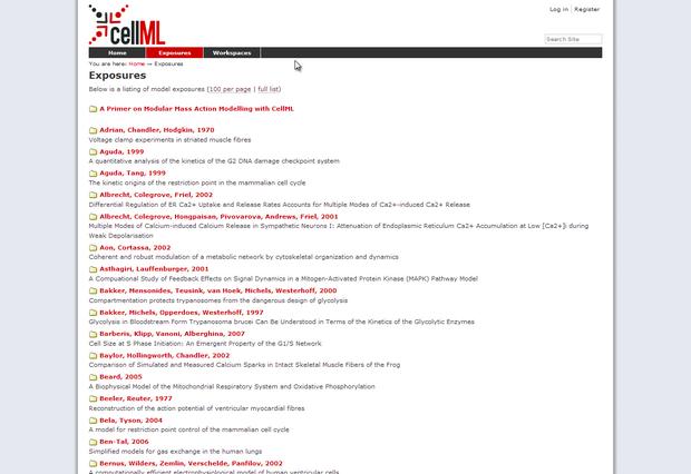 Model repository homepage