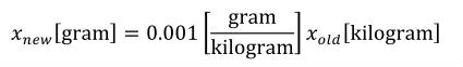 Equation: gram_definition